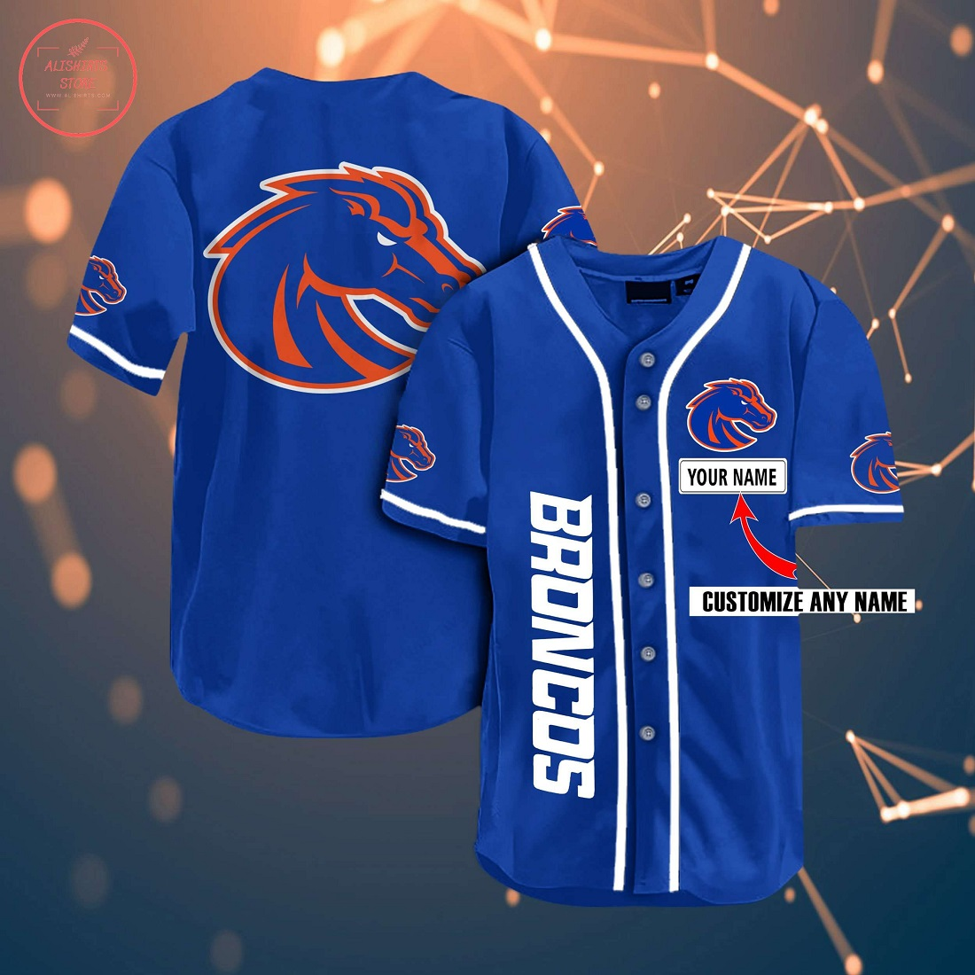 Ncaa Boise State Broncos Personalized Baseball Jersey