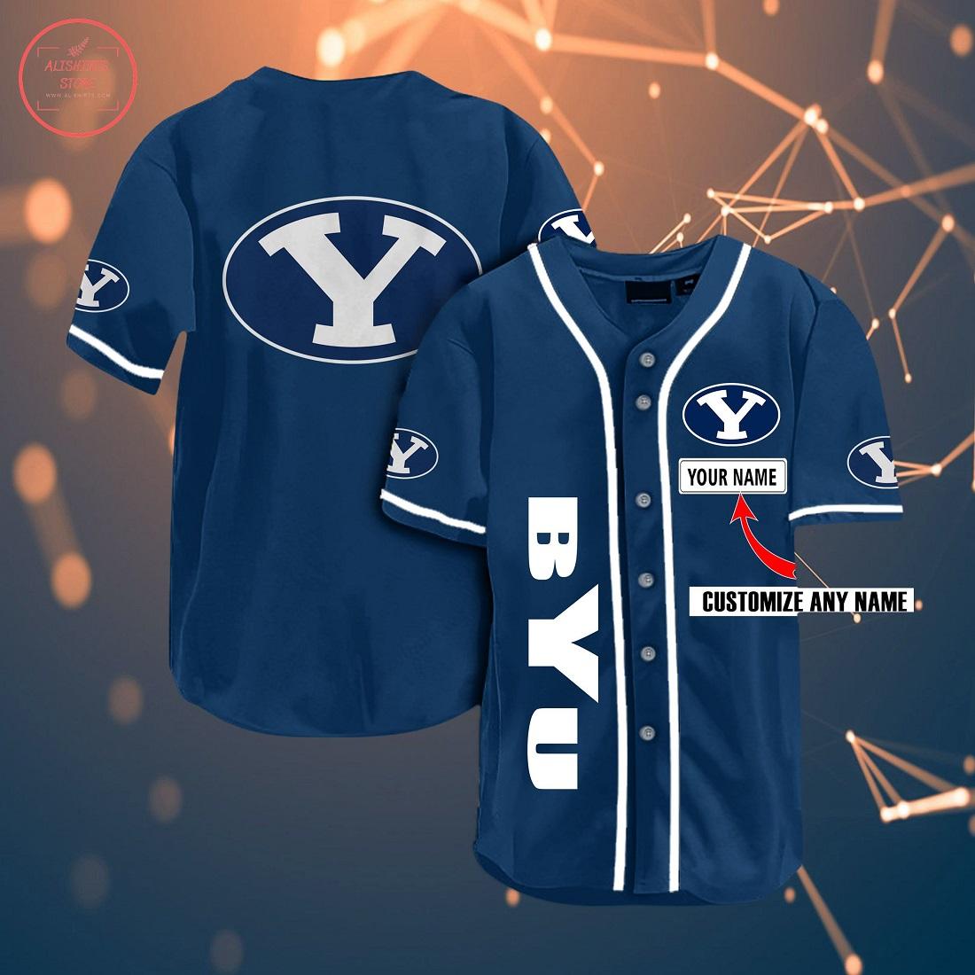 Ncaa Byu Cougars Personalized Baseball Jersey