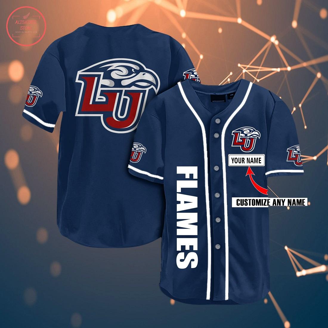 Ncaa Liberty Flames Personalized Baseball Jersey
