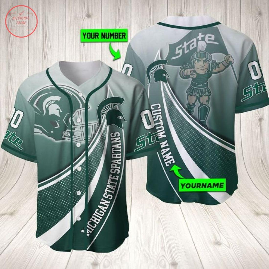 Ncaa Michigan State Spartans Personalized Baseball Jersey