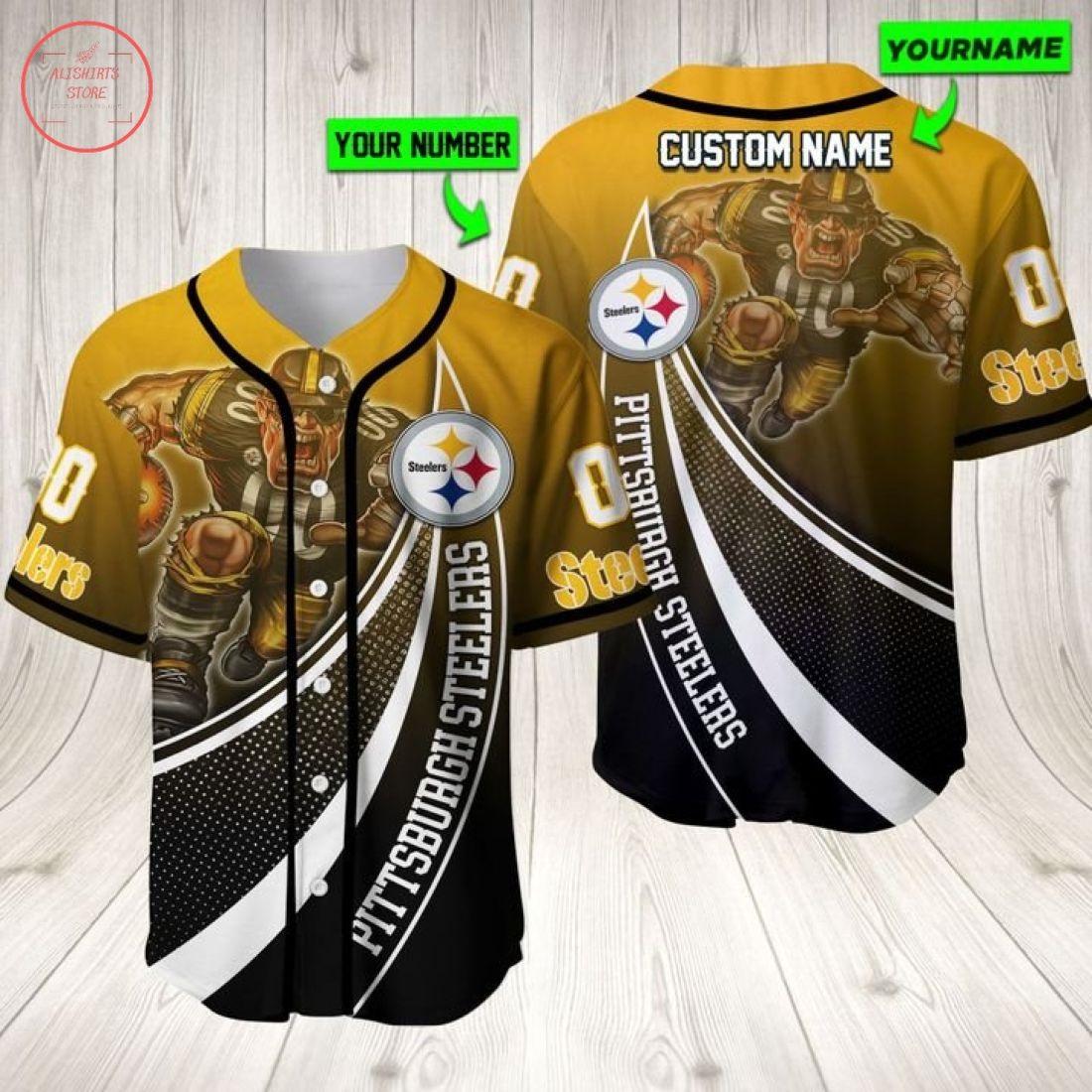 Ncaa Pittsburgh Steelers Personalized Baseball Jersey