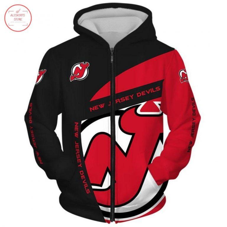 New Jersey Devils Over Print Full Zip Hoodie