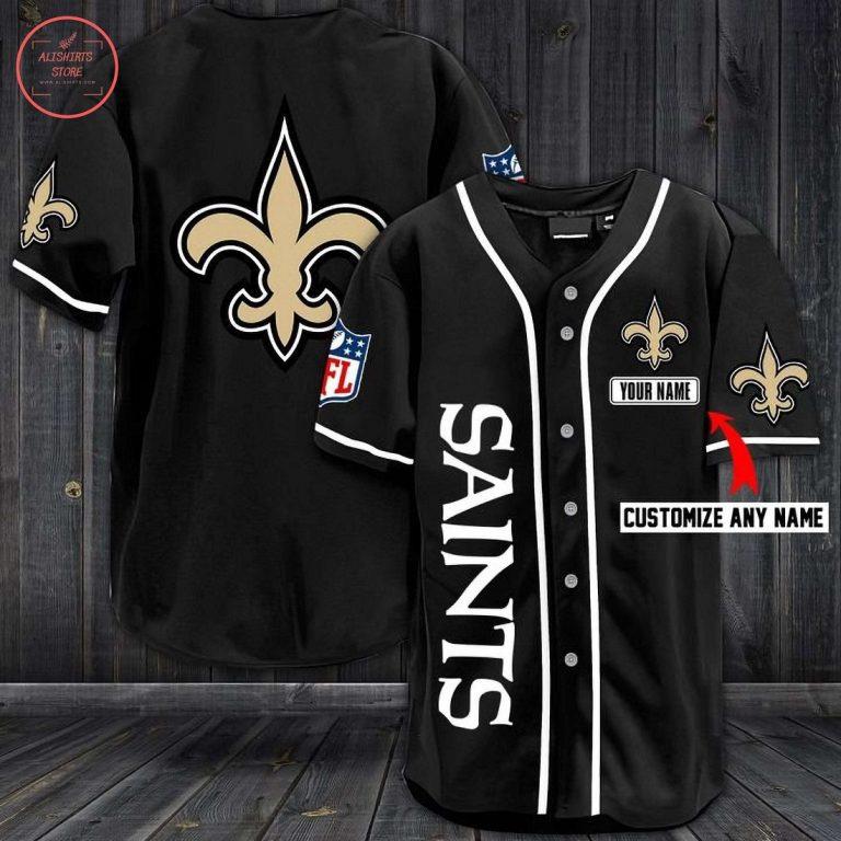New Orleans Saints Personalized Baseball Jersey