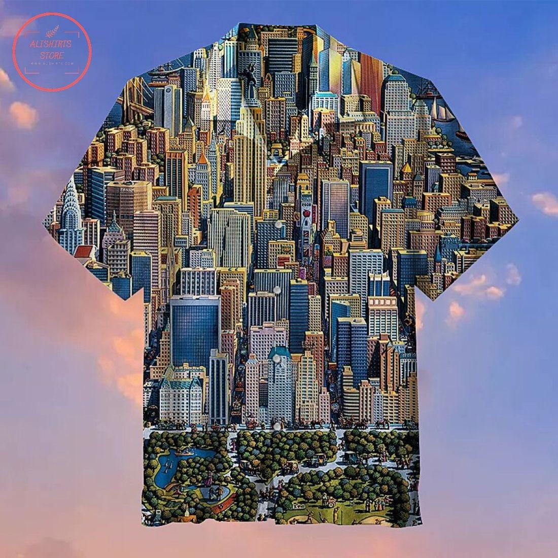 New York City Hawaiian Shirt