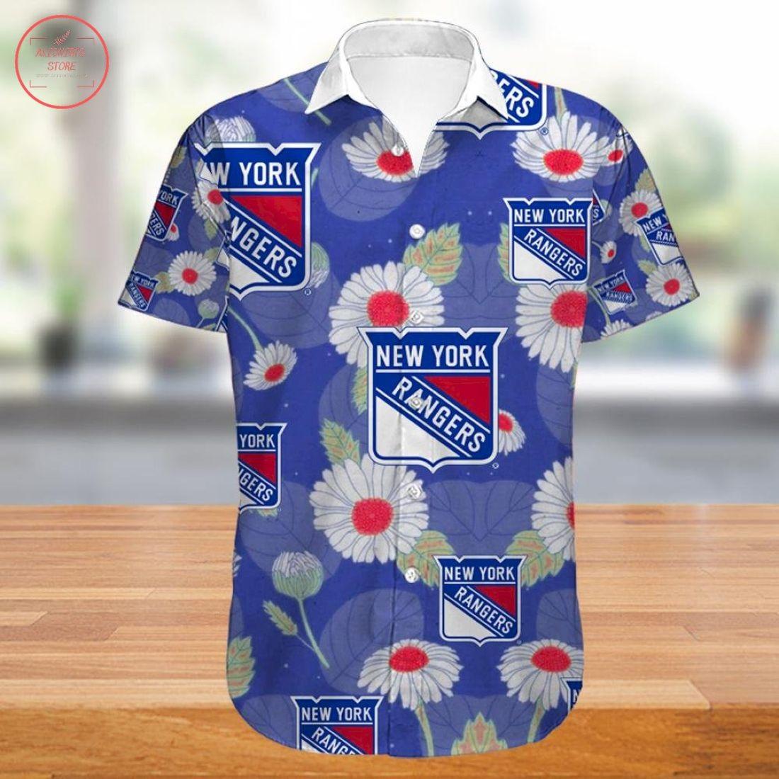 New York Rangers Hawaiian Shirt