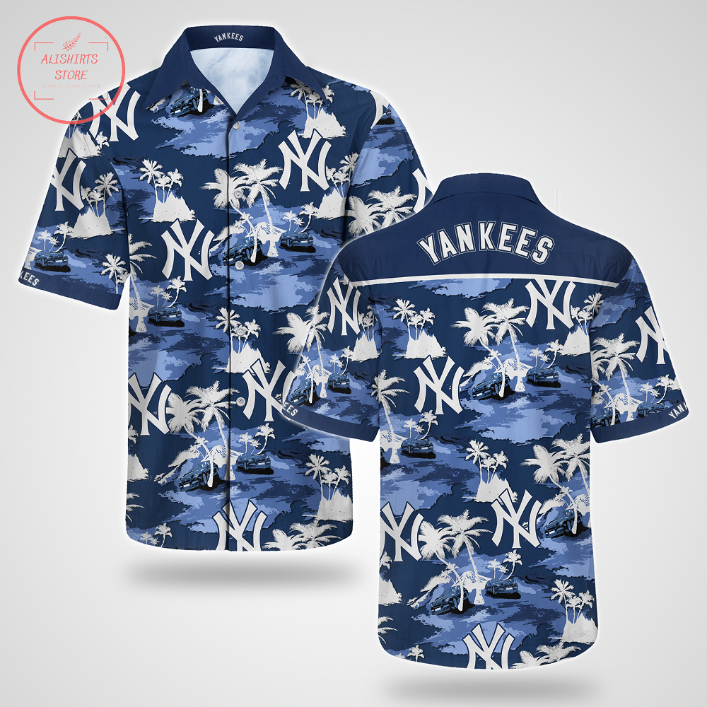 New York Yankees Hawaiian Shirt Summer Button Up