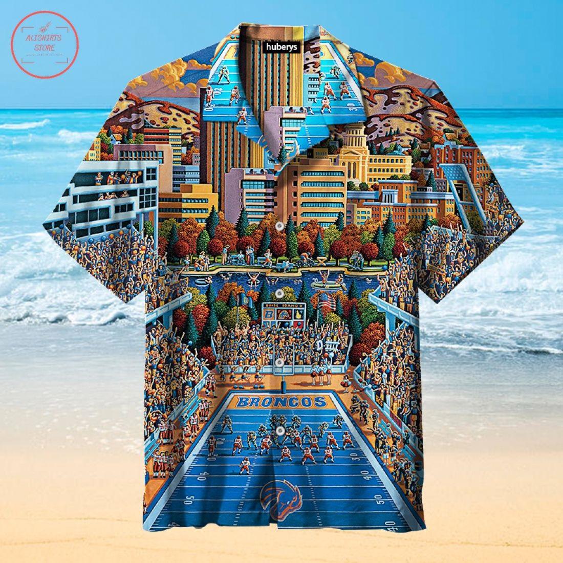 Nfl Boise State Broncos Hawaiian Shirt