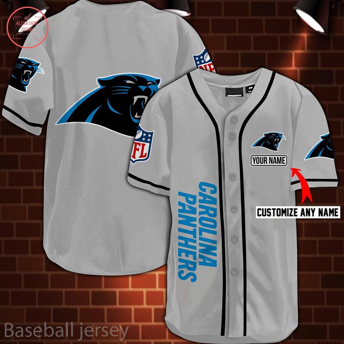 Nfl Carolina Panthers Personalized Baseball Jersey