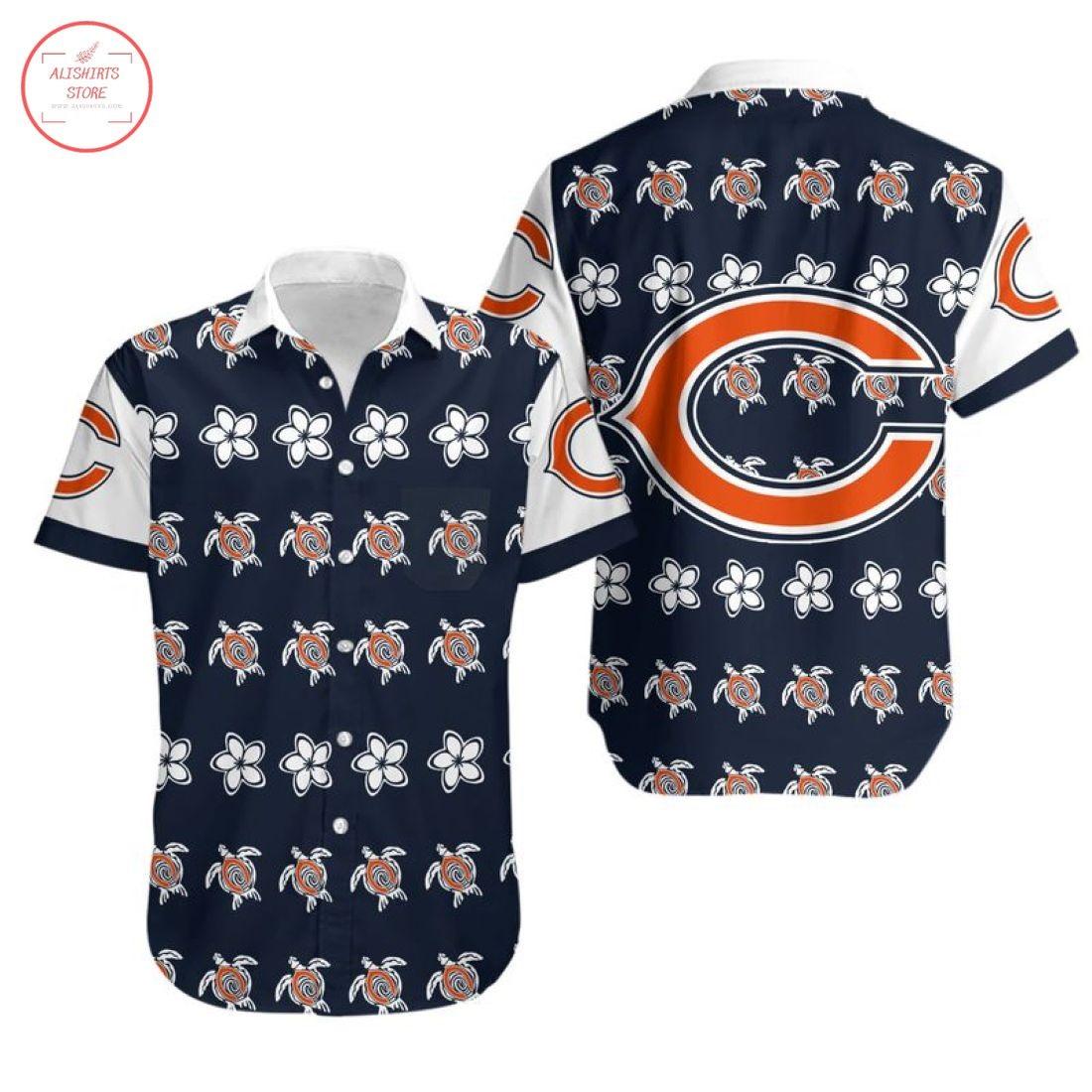 Nfl Chicago Bears Turtle Hawaiian Shirt