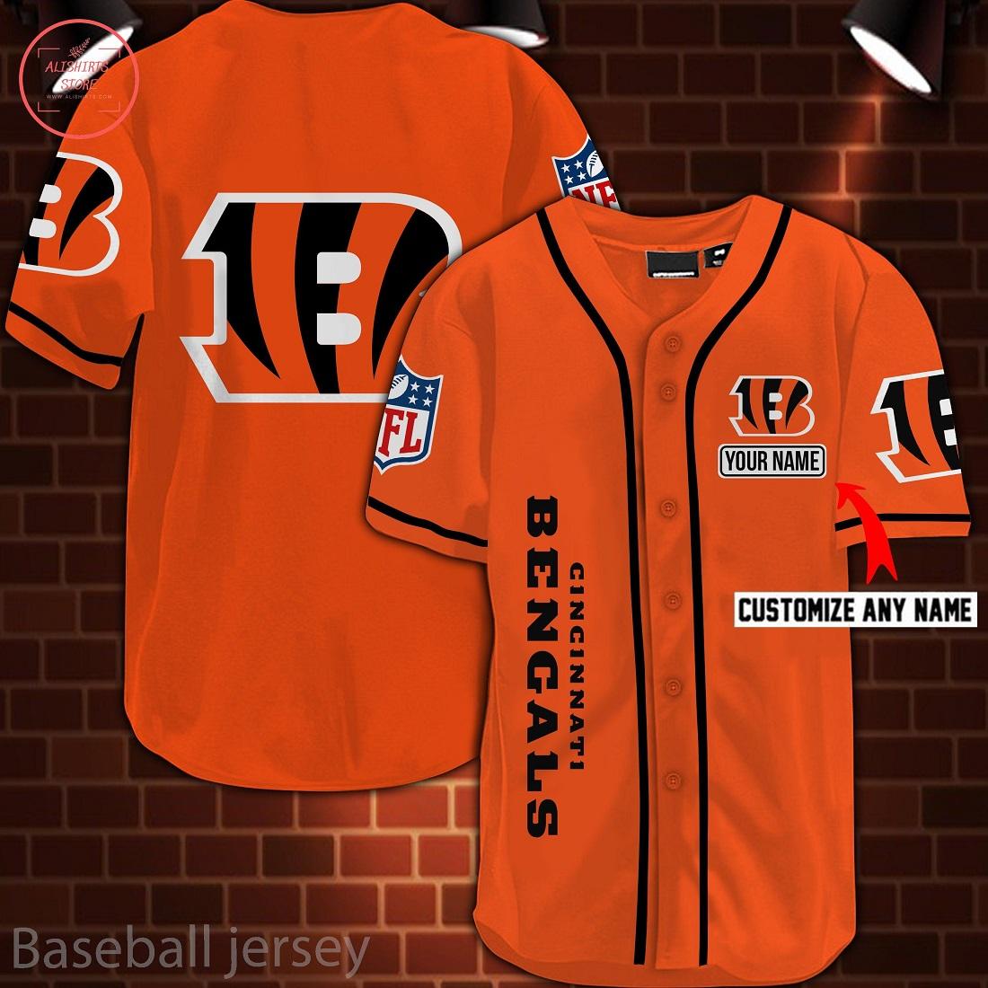 Nfl Cincinnati Bengals Personalized Baseball Jersey