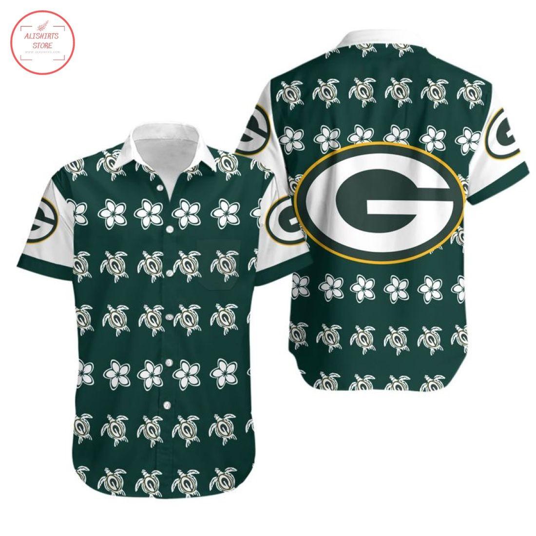 Nfl Green Bay Packers Turtle Hawaiian shirt