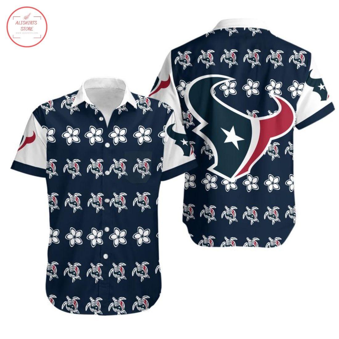 Nfl Houston Texans Turtle Hawaiian Shirt