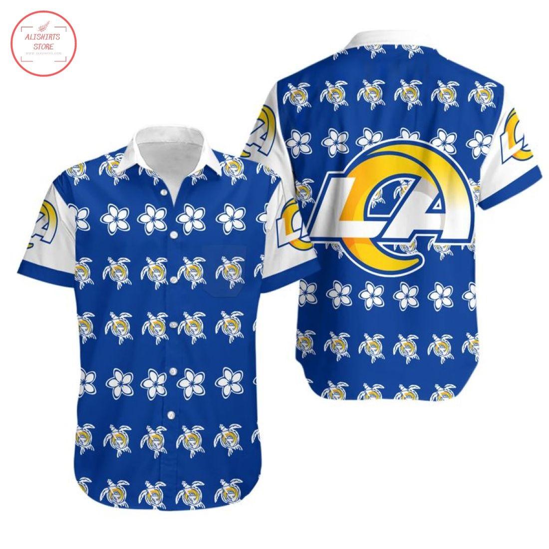 Nfl Los Angeles Rams Turtle Hawaiian shirt