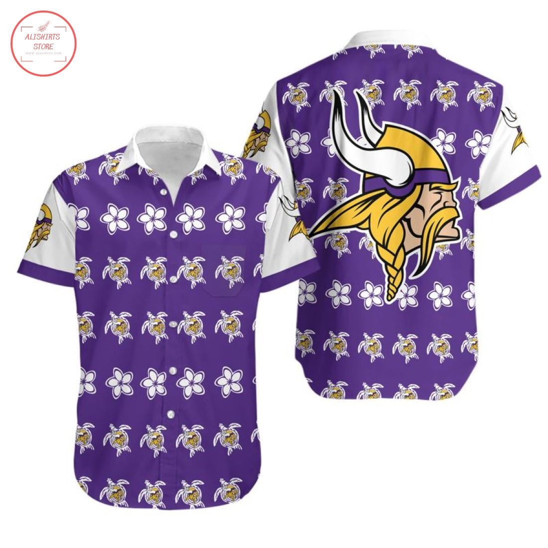 Nfl Minnesota Vikings Turtle Hawaiian Shirt