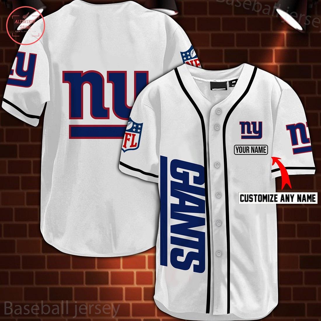 Nfl New York Giants Personalized Baseball Jersey