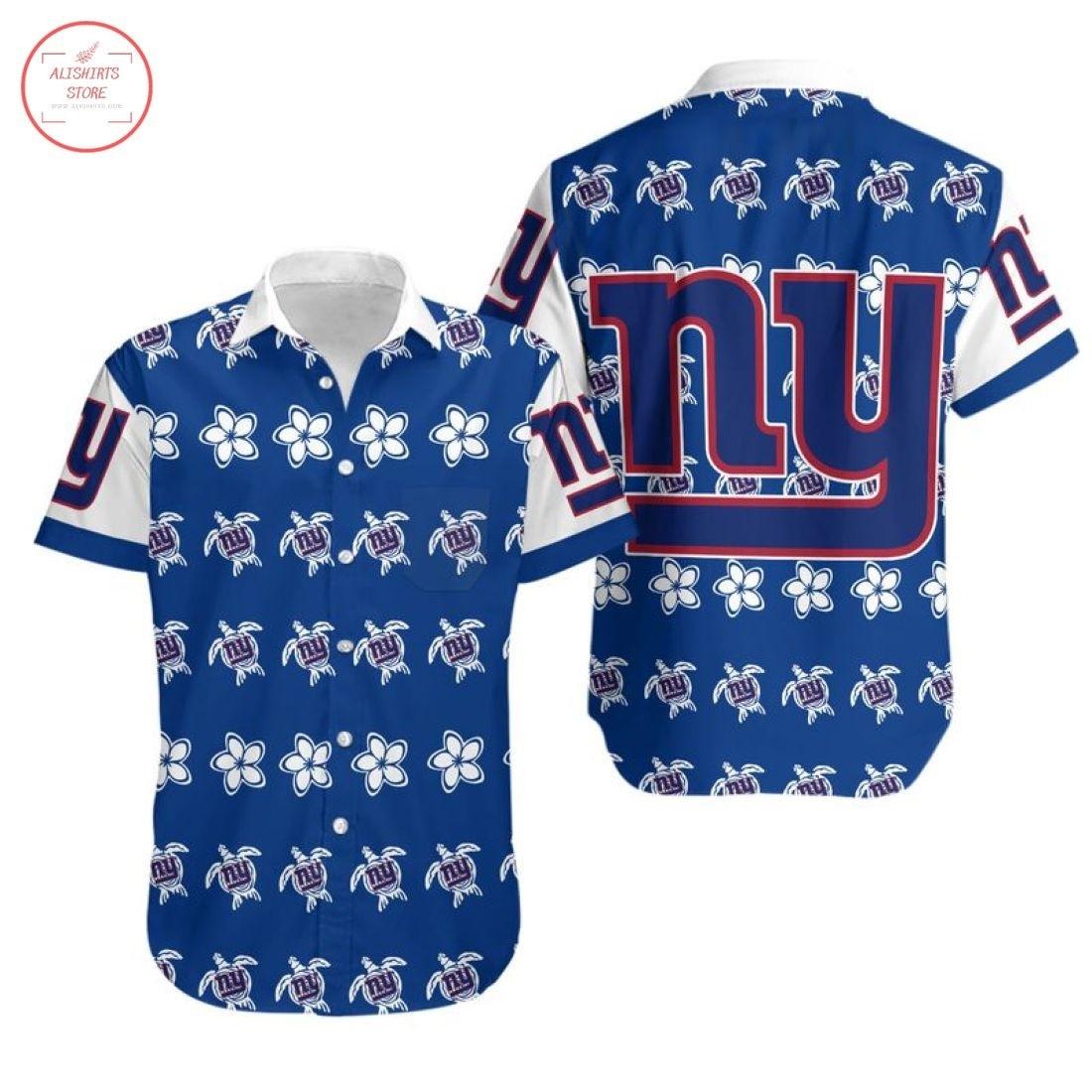 Nfl New York Giants Turtle Hawaiian Shirt