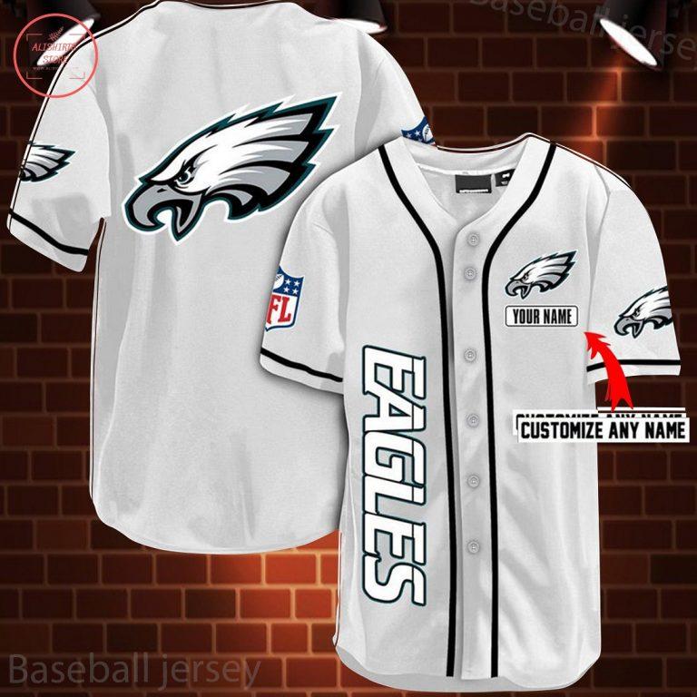 Nfl Philadelphia Eagles Personalized Baseball Jersey