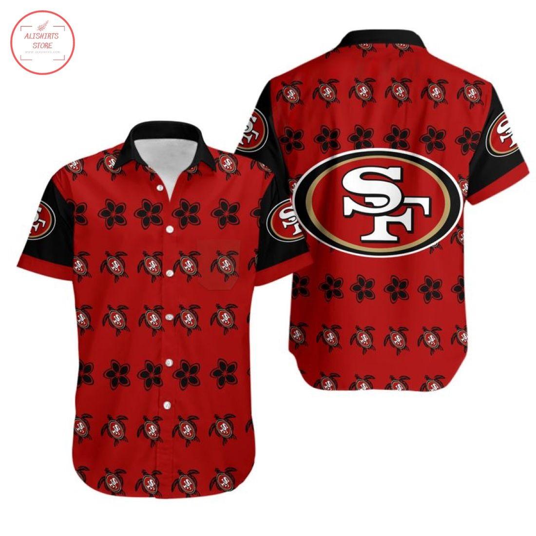 Nfl San Francisco 49ers Turtle Hawaiian Shirt