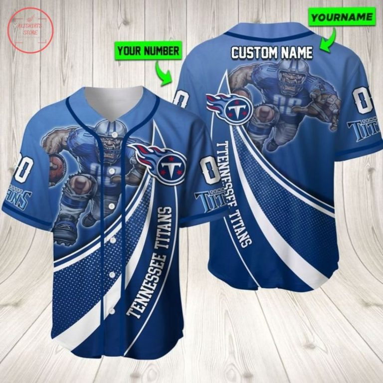 Nfl Tennessee Titans Personalized Baseball Jersey