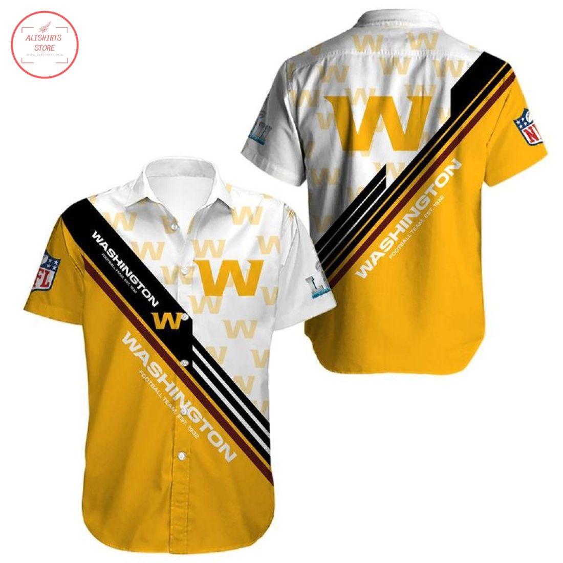 Nfl Washington Football Team Hawaiian shirt