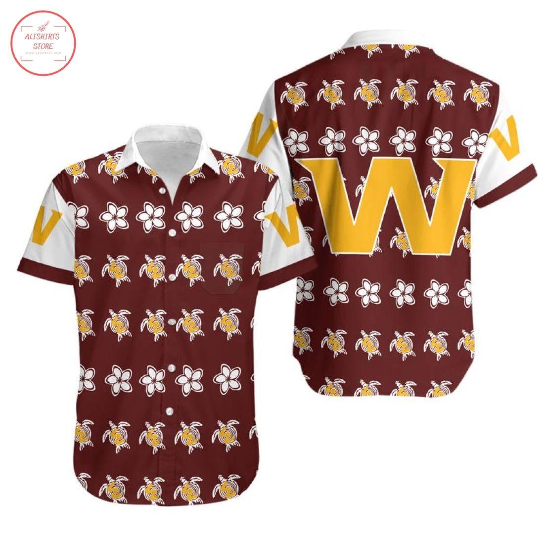 Nfl Washington Football Team Turtle Hawaiian Shirt