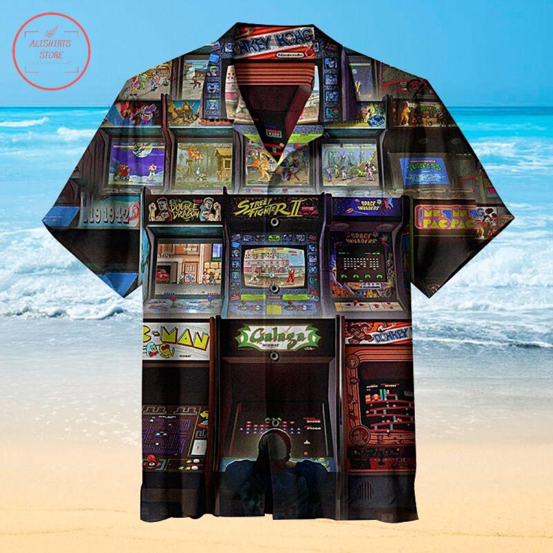 Nostalgic Arcade Game Hawaiian Shirt