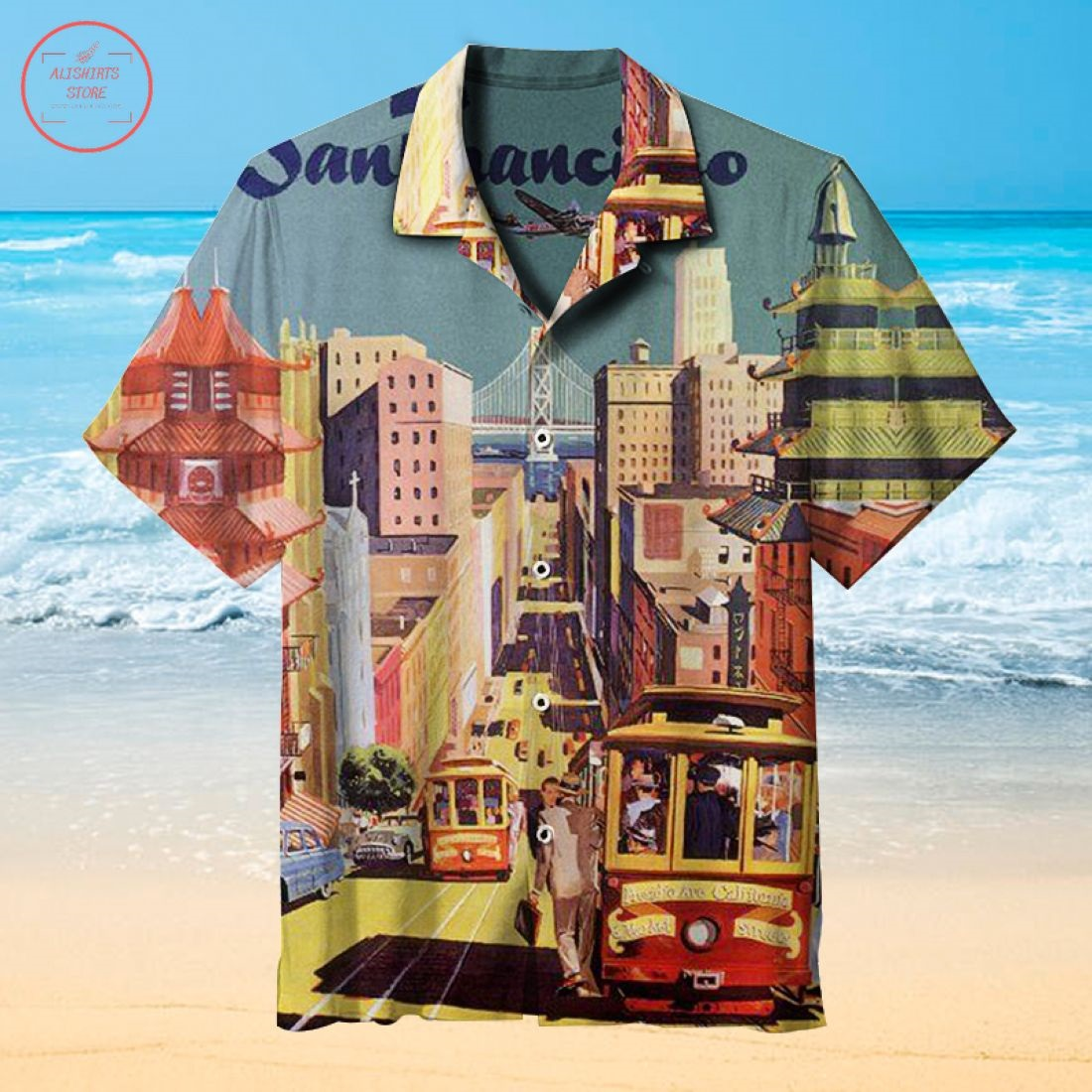 Nostalgic theme Beach Party Hawaiian shirt