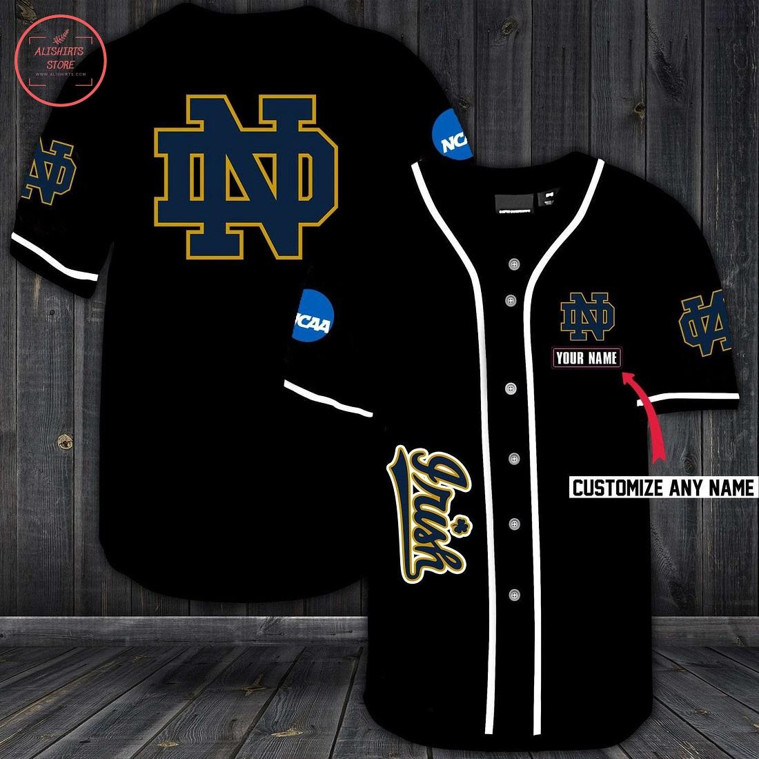 Notre Dame Fighting Irish Personalized Baseball Jersey