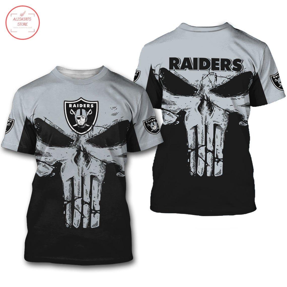 Oakland Raiders NFL Punisher Skull Shirt