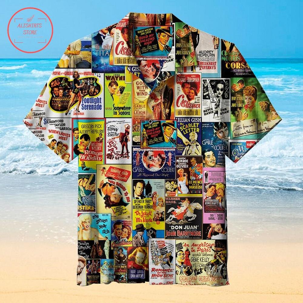 Old Movie Poster Hawaiian Shirt