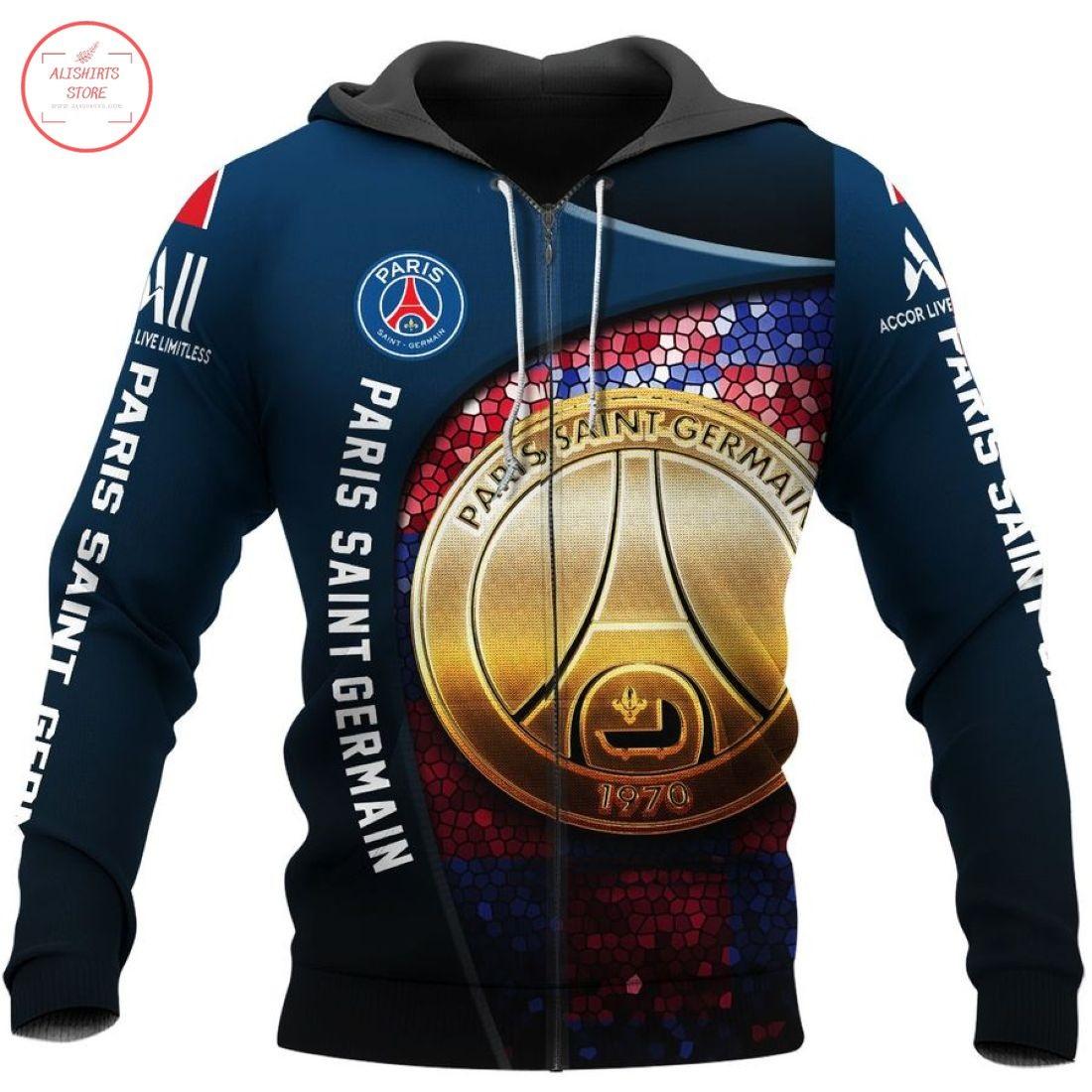 Paris Saint German FC 3D Hoodie