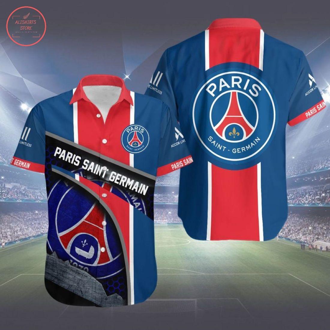 Paris Saint-German Fc Hawaiian Shirt