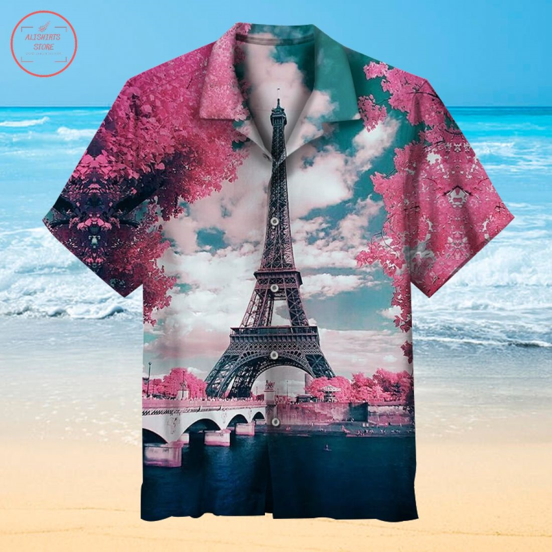 Paris Tower Hawaiian shirt