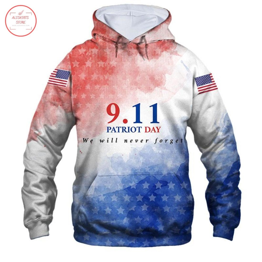 Patriot Day We Will Never Forget Shirts 3D Full Printing