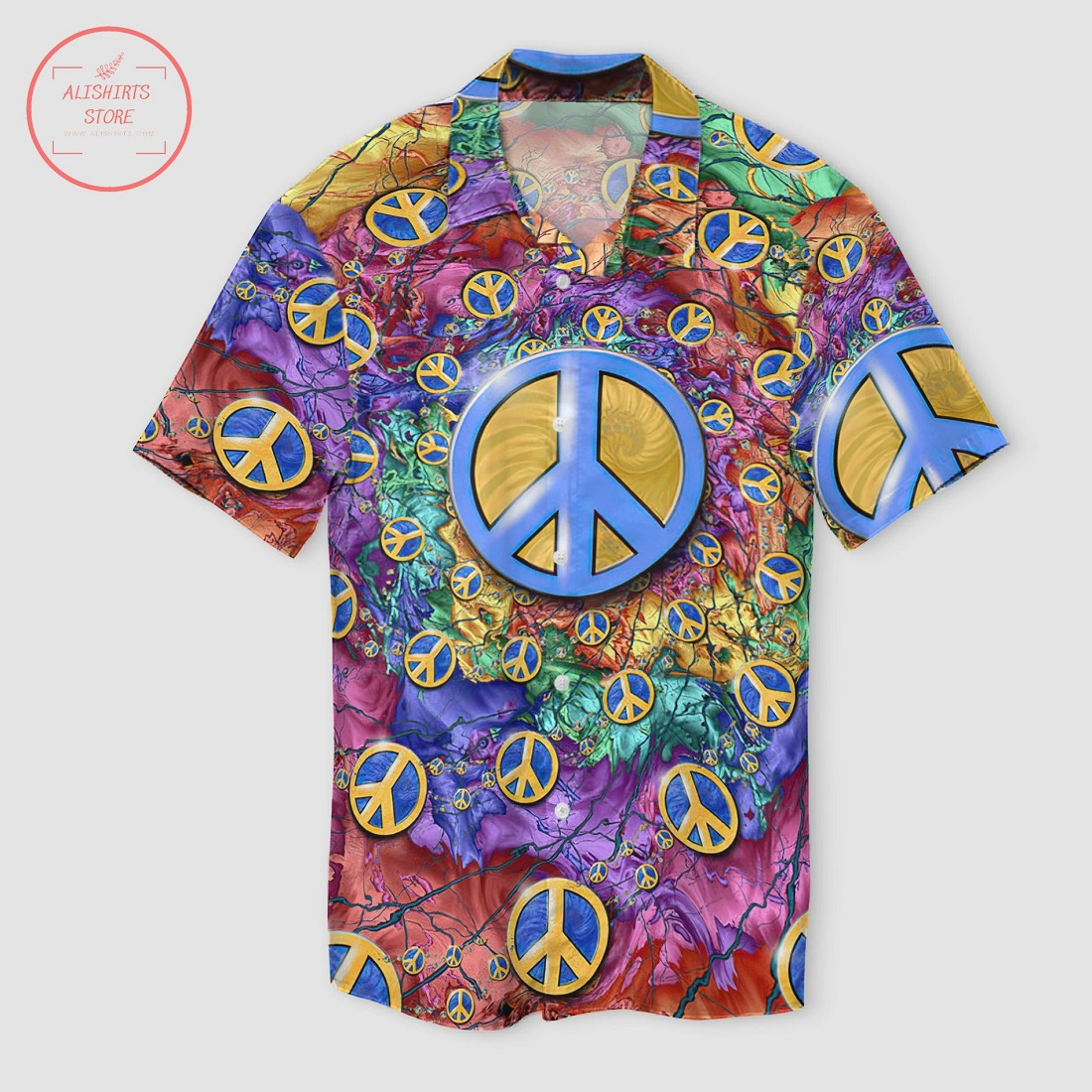 Peace Love Hippie Hawaii Shirt
