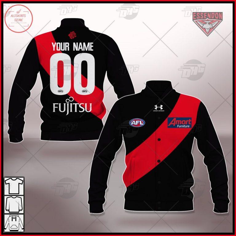 Personalized AFL Essendon 2021 Season Home Guernsey Jacket