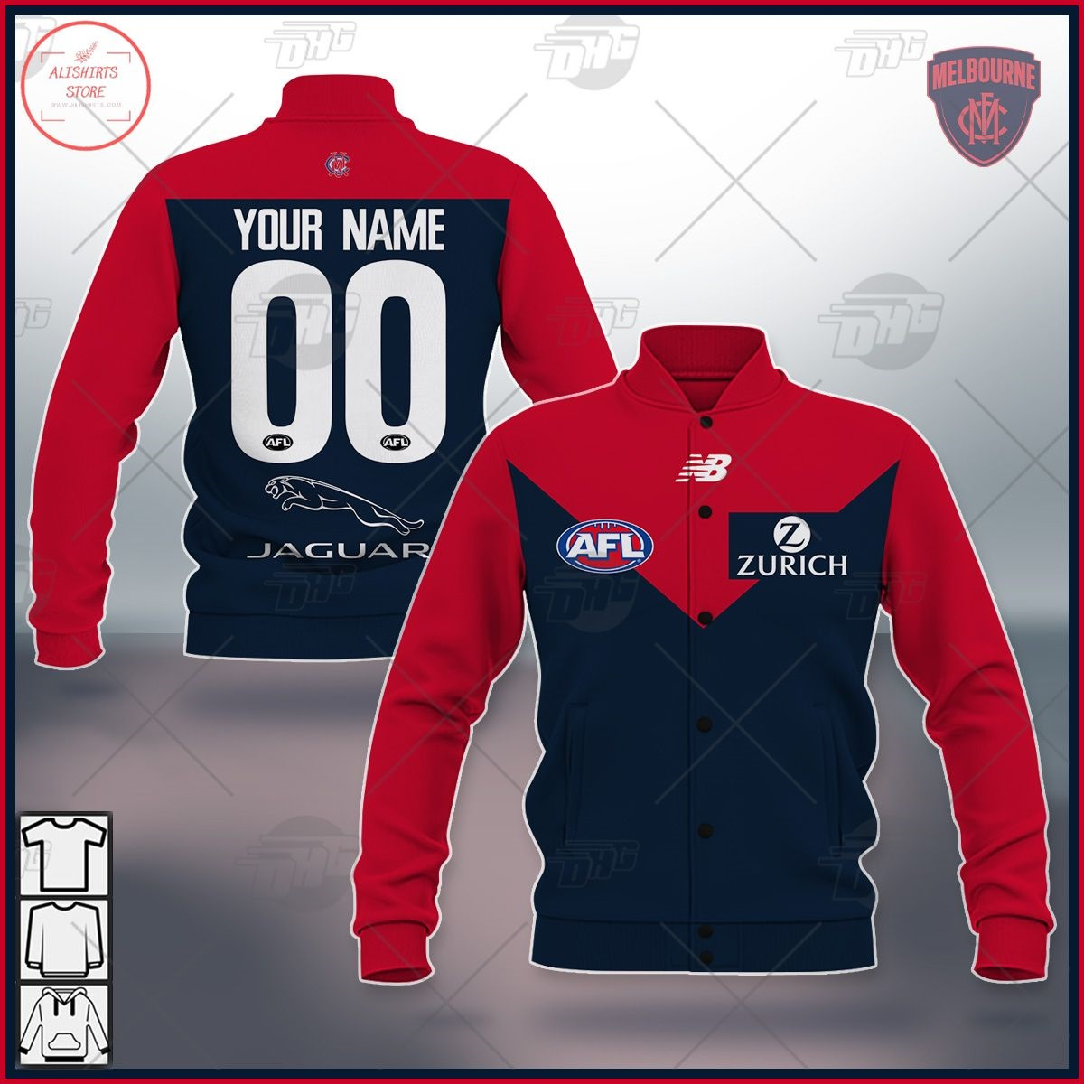 Personalized AFL Melbourne Demons 2021 Letterman Jacket