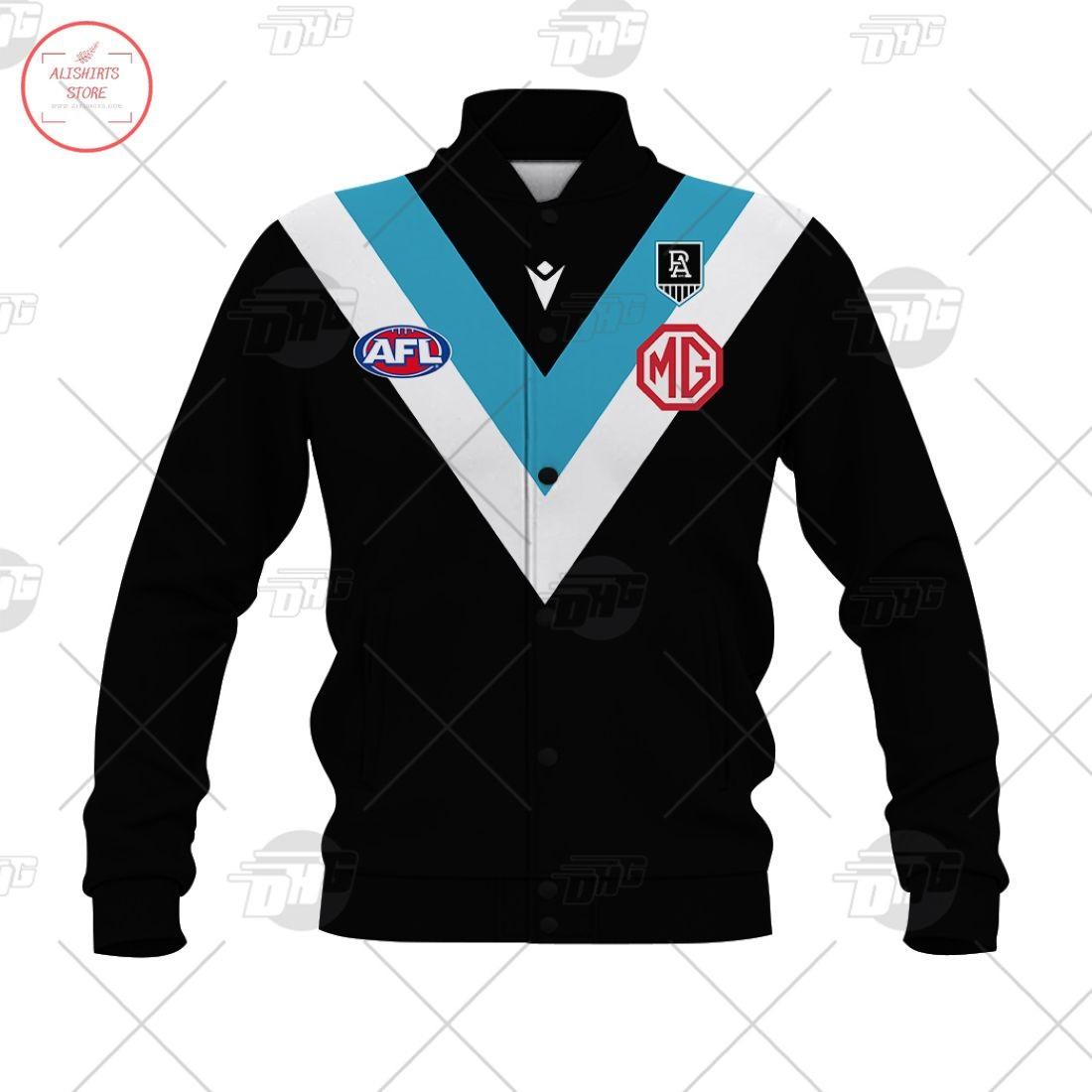 Personalized AFL Port Adelaide 2021 Letterman Jacket