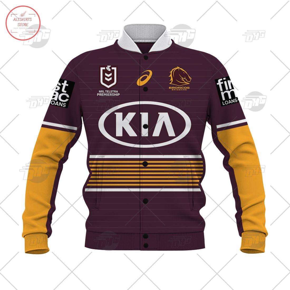 Personalized NRL Brisbane Broncos 2021 Letterman Jacket