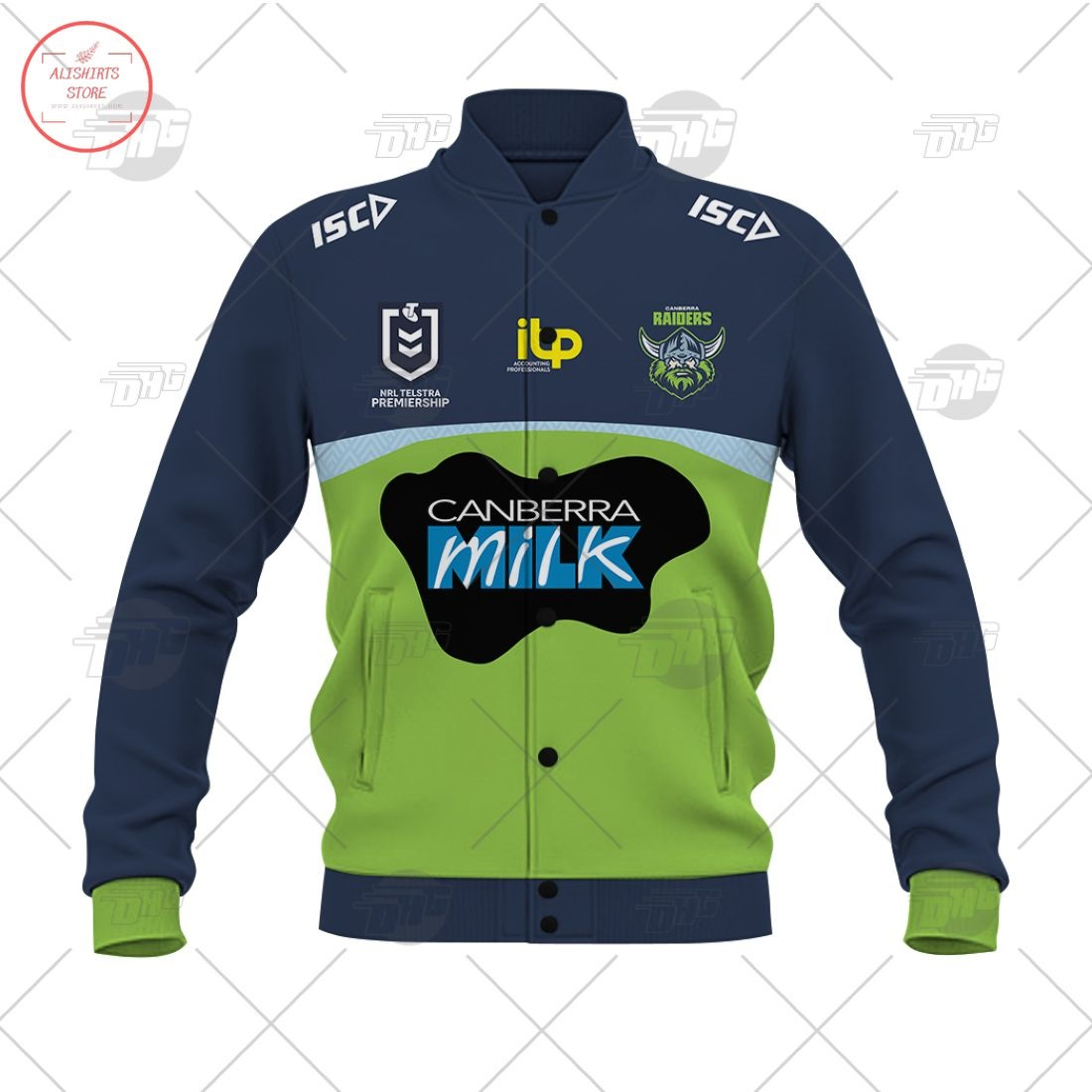 Personalized NRL Canberra Raiders 2021 Letterman Jacket