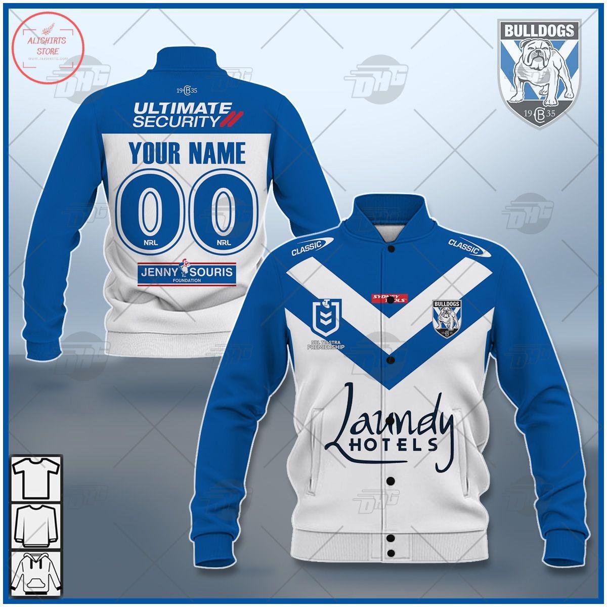 Personalized NRL Canterbury Bulldogs 2021 Letterman Jacket