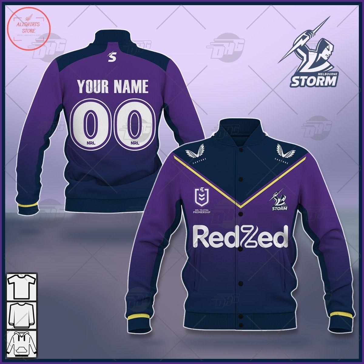 Personalized NRL Melbourne Storm 2021 Letterman Jacket