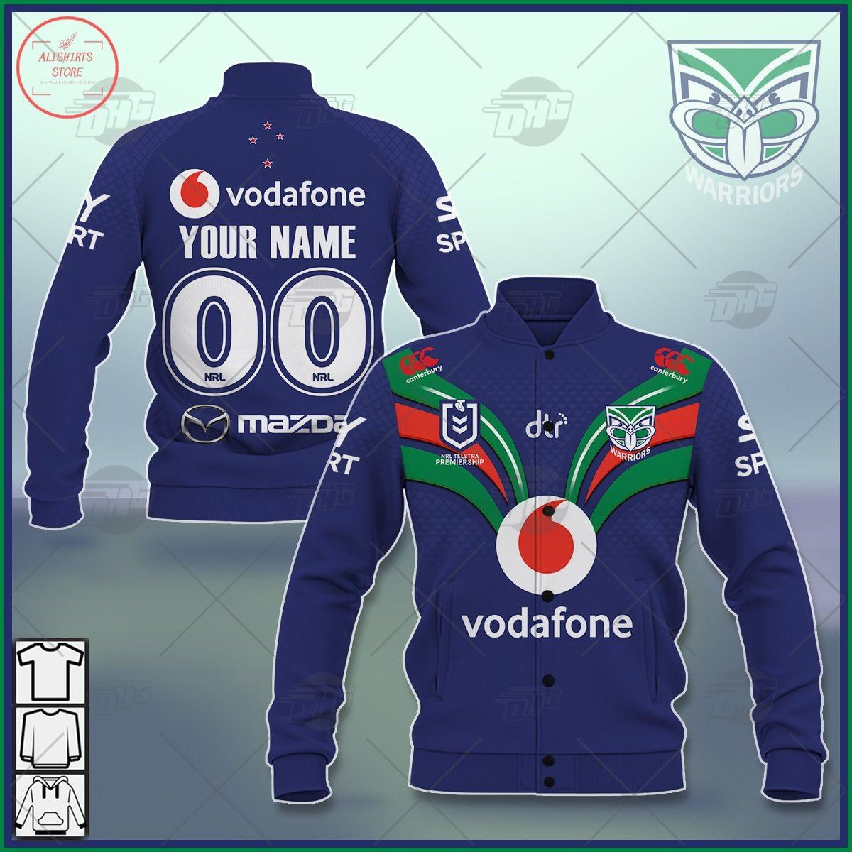 Personalized NRL New Zealand Warriors 2021 Letterman Jacket