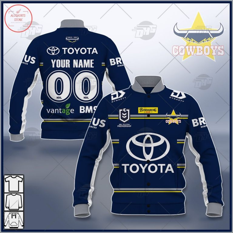 Personalized NRL North Queensland Cowboys 2021 Letterman Jacket