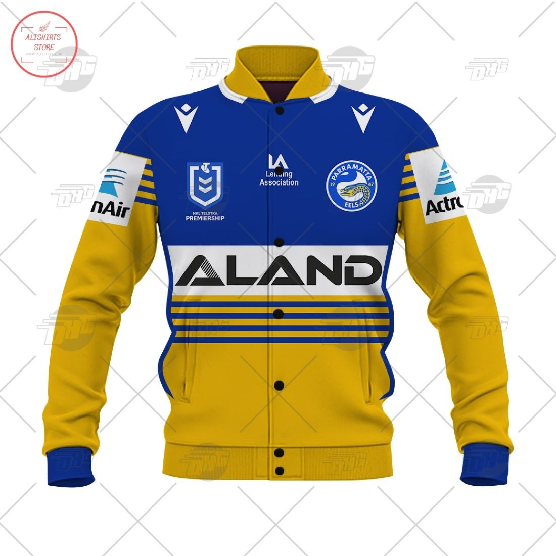 Personalized NRL Parramatta Eels 2021 Letterman Jacket