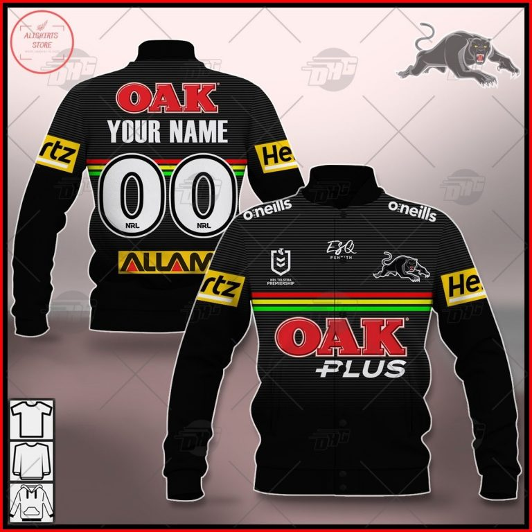 Personalized NRL Penrith Panthers 2021 Letterman Jacket