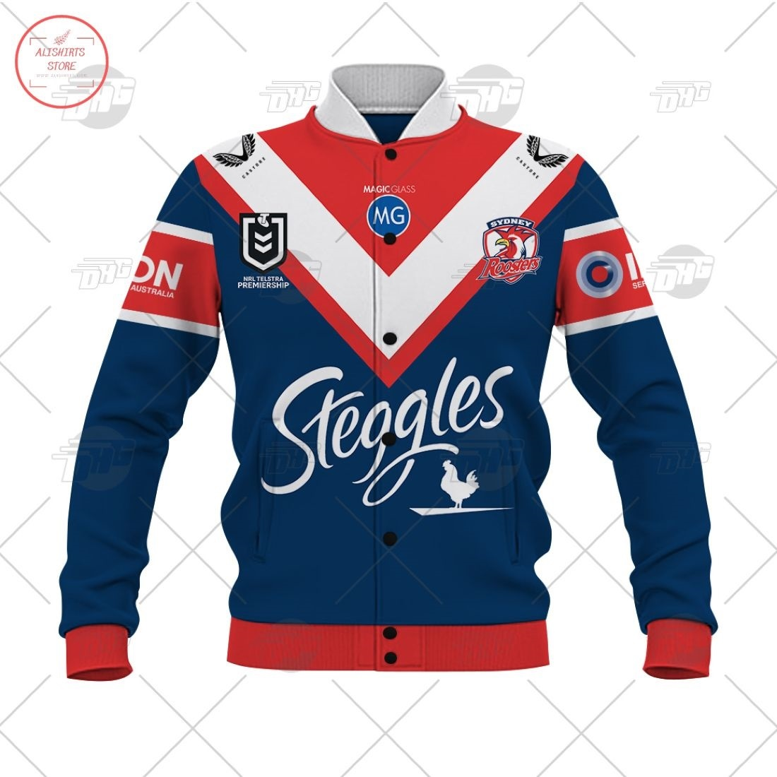 Personalized NRL Sydney Roosters 2021 Letterman Jacket