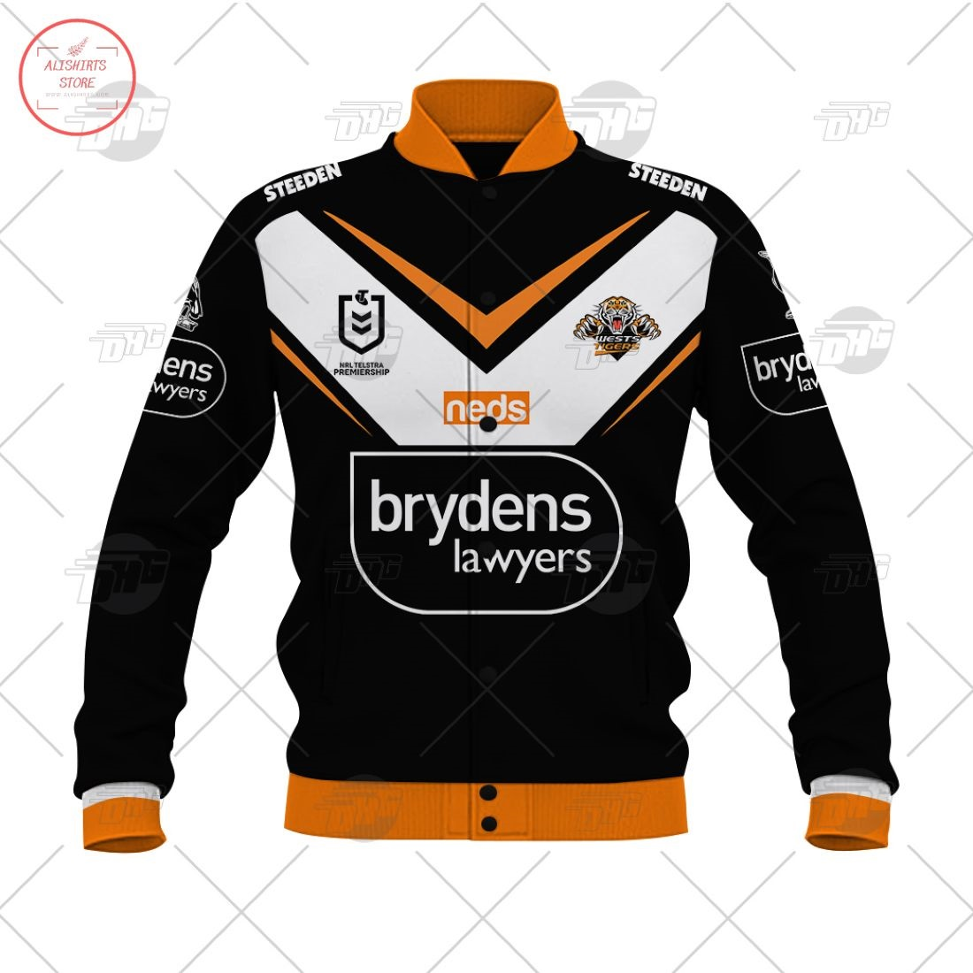 Personalized NRL Wests Tigers 2021 Letterman Jacket
