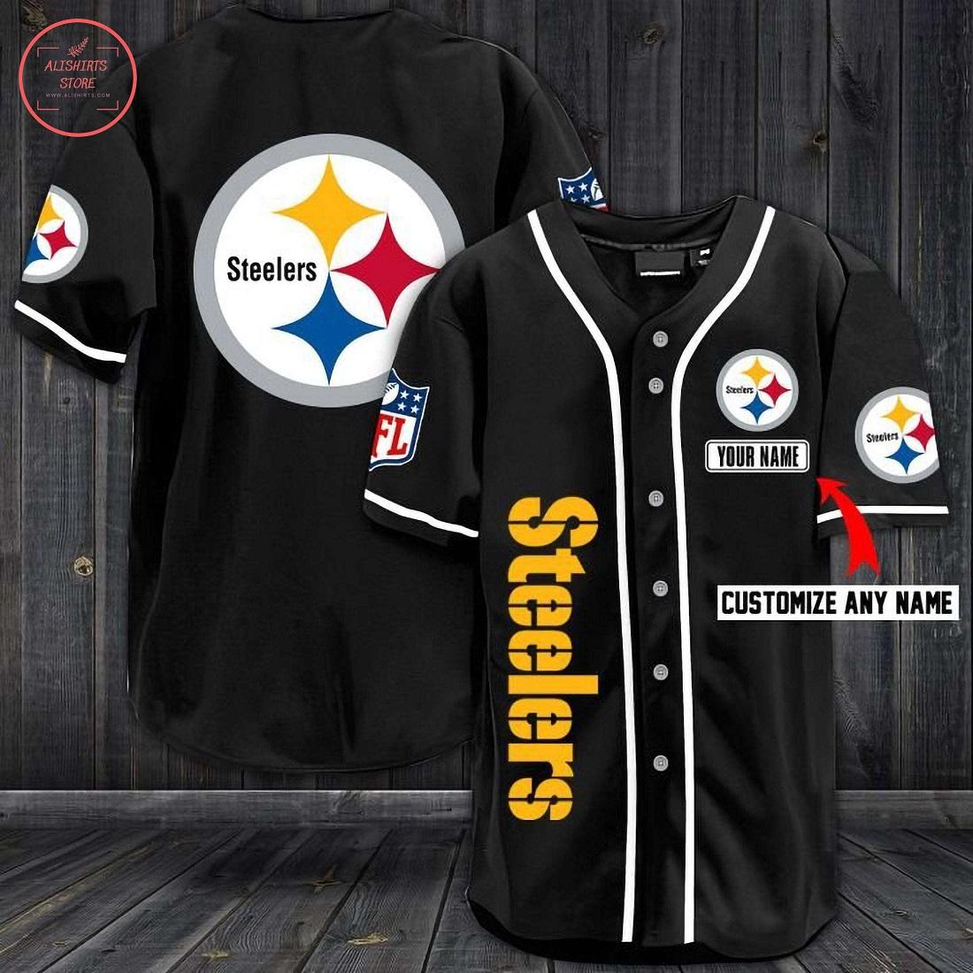 Pittsburgh Steelers Personalized Baseball Jersey