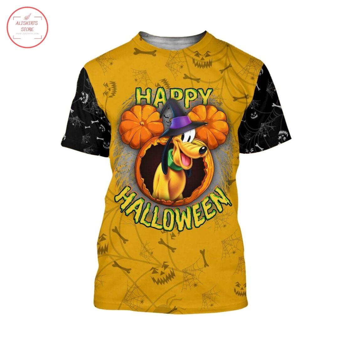 Pluto Dog Disney Happy Halloween Shirt